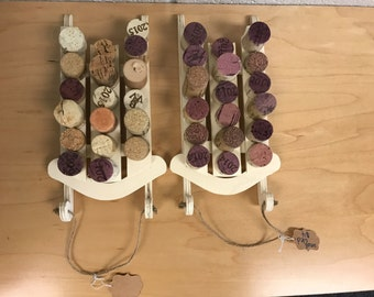 Wine Cork Sled Ornament