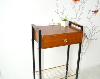 Side table, furniture, bedside telephone, night table, vintage, 50s, Scandinavian style