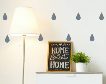 Raindrop Shape vinyl wall decal stickers