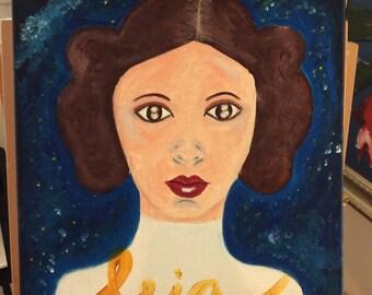 Princess Leia painting