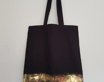 Black Tote bag - metallic