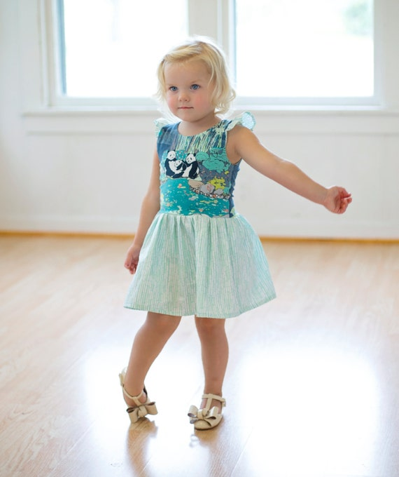 Isla's infinity heart back knit/ woven tunic peplum and dress. PDF sewing pattern for toddler girl sizes 2t - 12.