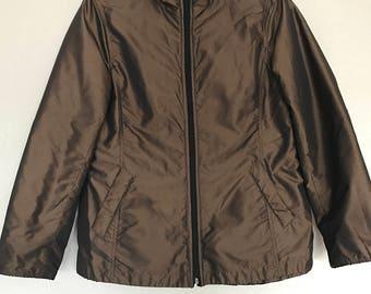 CLEARANCE Bronze/black reversible jacket