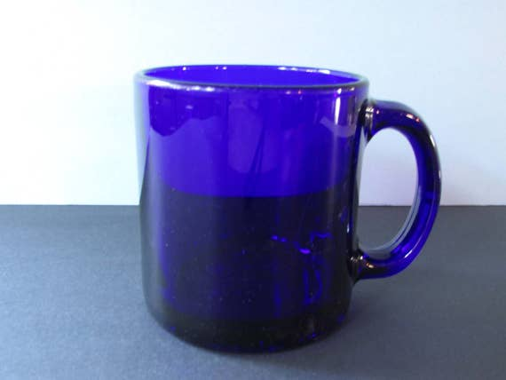 Items Similar To Libbey Cobalt Blue Glass Coffee Mug