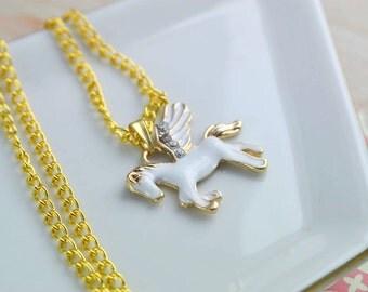 Collier licorne - Bijoux animaux - Collier charms émaillé - Collier pendentif - Collier animal  - Cadeau femme  - Longueur personnalisable