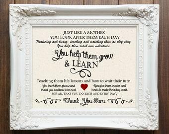 Caregiver Gift, Babysitter Gift, Babysitter Gift, Babysitter Thank You, Teacher Gift, Sitter Gift, Gift for Teacher, Gift for babysitter