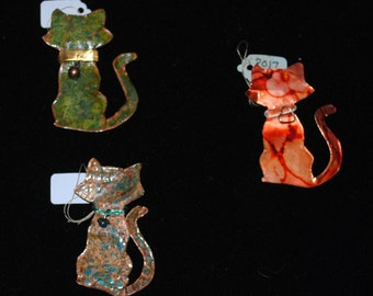 Copper Cat Brooch, Your choice of style