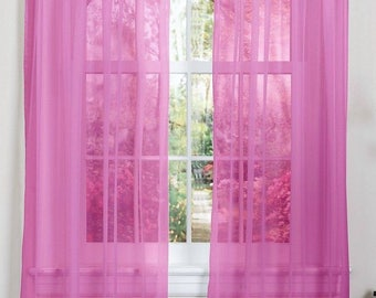 Sheer Window Curtain Panel set of Two