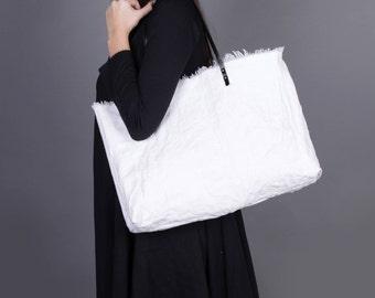 Canvas Bag, White Bag, Oversized, Tote Bag, Shoulder Bag, Shopping Bag, Big Bag, Rustic Bag, Carry On Bag,  Market Bag, Market Tote