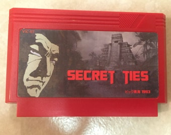Secret Ties Custom Famicom 8bit Game. Classic Arcade Game!