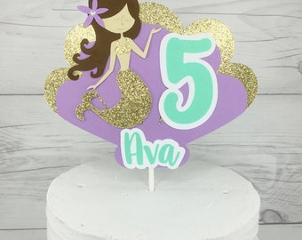 Mermaid Cake Topper, Mermaid Centerpiece, Custom Mermaid Cake Topper, Under The Sea Party Decor, Mermaid Party Decorations, Cake Toppers