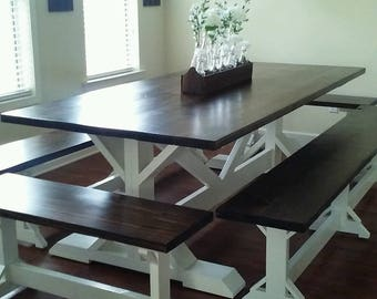 Farmhouse Table & Benches