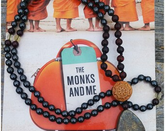 Dharma Mala Collection, Hematite Mala, Brecciated Red Jasper Mala, Garnet Citrine Mala, Pyrite Mala, Buddhist Prayer Beads, 108 Bead Mala