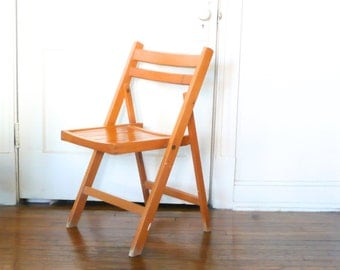 Vintage Wooden A-Frame Folding Chair