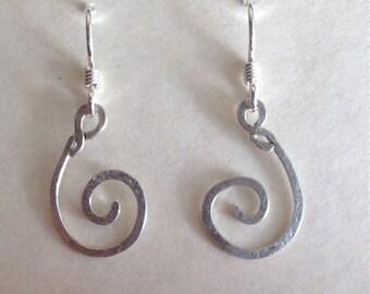 Sterling Silver Spiral Earring E-20