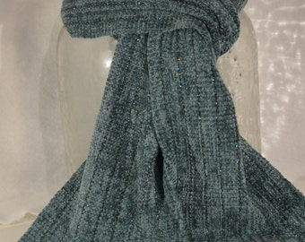 Teal Chenille Scarf
