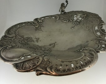 Austro-Hungarian Silver 800 Standard Pierced Shell Shaped Dish