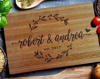 Personalized Cutting Board, Custom Cutting Board, Cheese Board, Chopping Board, Wedding gift, Personalized Housewarming, Closing Gift (209)