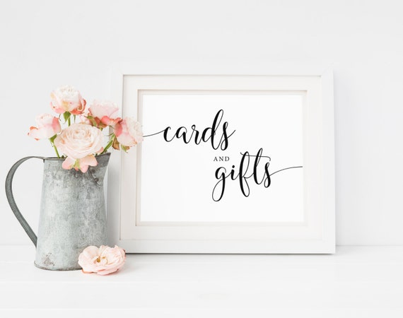 Wedding Gift Cards Online: Cards And Gifts Sign, Printable Wedding Signs, Wedding