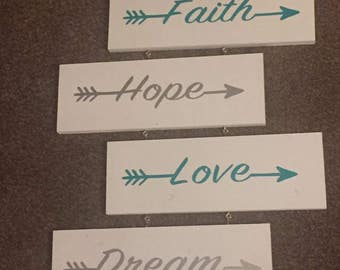 Faith Hope Love Dream wall hanging