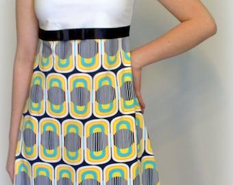 Retro pattern dress
