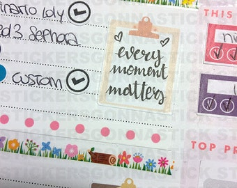 25 Clipboard Stickers | Rose Gold, Gold or Both | Ideal for planners, calendars, journals, scrapbooks and more