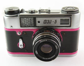 FED 5 Russian Soviet 35mm Film Leica Copy Rangefinder Camera Industar-61LD Lens