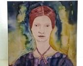 Emily Dickinson, Art Print Card, American Poet, Greeting Card, Book lover, Literary card, Inspirational women, Women writers, Pre-Raphaelite