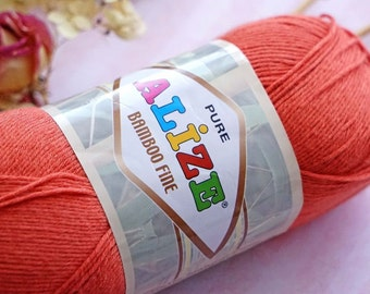 Bamboo yarn BAMBOO FINE ALIZE , summer yarn, lots of colors in the palette