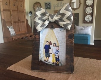Rustic Wood Frame with Bow