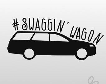 Swaggin' Wagon Car Decal, Station Wagon Decal, Funny Car Decal