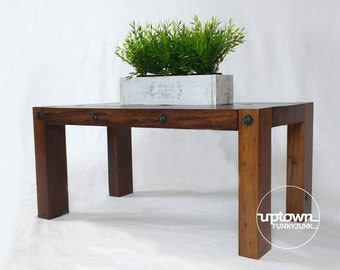 Reclaimed timber coffee table/reclaimed wood coffee table/recycled timber coffee table/industrial table/rustic coffee table/furniture/table