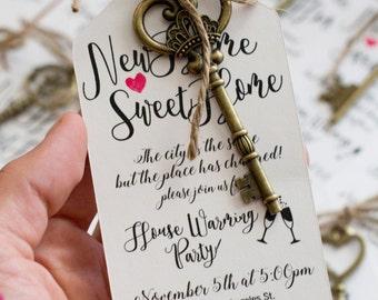 House Warming Invitations, Keys, Gift, cute, Invitation