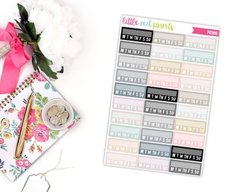 Neutral Habit Tracker Planner Stickers for the Erin Condren Life Planner, Neutral Planner Sticker - [P0386]