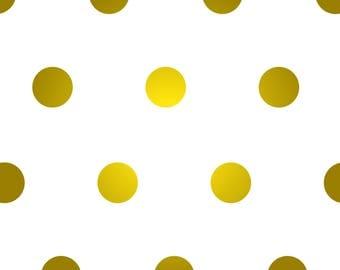 Satin Gold Polka Dot Vinyl Wall Decals