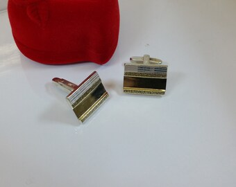 Partly gold plated cufflinks silver 835 MS163