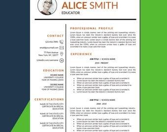 educator resume template for ms word pages teacher cv principal resume teacher