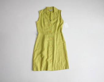 lime green dress | linen dress | 90s dress