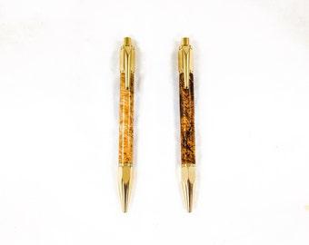 24KT Gold Plated Handcrafted Ballpoint Pen, Vertex Style Pen, Gift for Men, Gift for Him, Boss Gift, Coworker Gift, Stocking Stuffer for Men