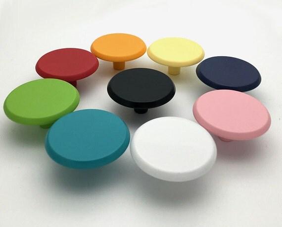 Colorful kids dresser pulls drawer pull handles knobs red for Children s bureau knobs