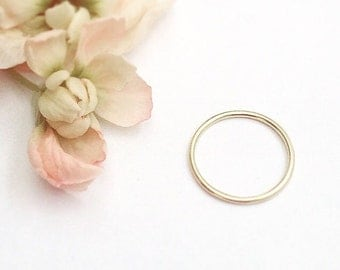 Gold Ring - 9ct Yellow Gold Ring- Yellow Gold Ring - Skinny Gold Ring - Super Thin Stacking Ring - Minimal Gold Ring - Solid Gold Ring - 9ct