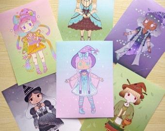 Cute Japanese fashion witches ∙ Mini prints