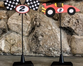 Race Car Theme Centerpiece Sticks (STANDS SOLD SEPARATELY)