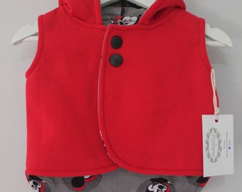 Red Mickey Hooded Vest