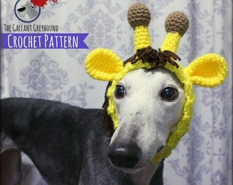 Giraffe Snood for Greyhounds Crochet Pattern (PATTERN ONLY!)