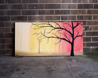 Tree, Original Painting on Canvas, Large Painting, Extra Large Wall Art, Tree of Life, Large Wall Art, Large Tree Painting, Acrylic Painting