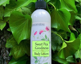 Aloe Lotion - Sweet Pea Goodness // Natural Skin Moisturizer // + Free Sample
