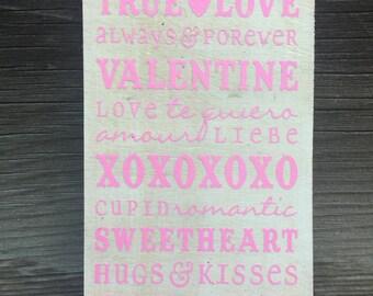 True Love- Valentines- Sign