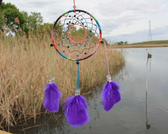Fluorite rainbow dreamcatcher