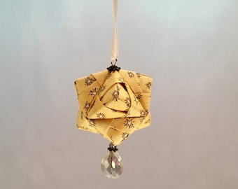 Yellow Star Origami Christmas/Holiday Ornament